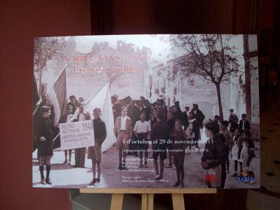 Cartell de l'exposició que trobem a l'entrada de la fundació.